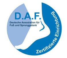 Orthopedic hospital Gelenk-Klinik is certified as Foot and Ankle Surgery Centre (ZFS)