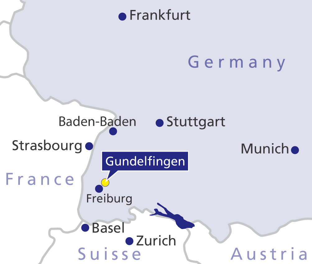Location of Gelenk-Klinik Gundelfingen