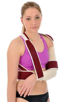 Gilchrist bandage to stabilise the shoulder joint