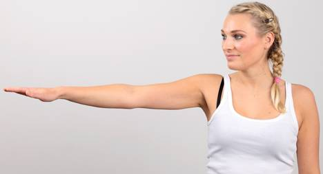 With shoulder impingement, extending the arm - especially at an angle of 60°-90° - is painful.
